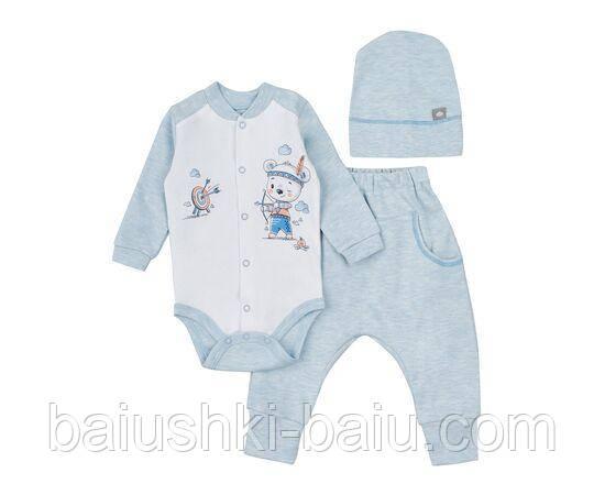 Комплект одежды для мальчика 3 предм. (трикотаж), р. 86