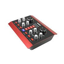 USB Аудиоинтерфейс Lesko 5000X внешняя звуковая карта-пульт с функциями обработки голоса, фото 3