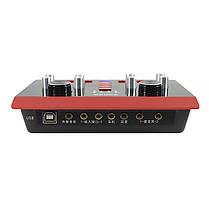 USB Аудиоинтерфейс Lesko 5000X внешняя звуковая карта-пульт с функциями обработки голоса, фото 2