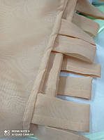 Тюль на шлейках бежевый 1.40м 2 шт от tyulnadom