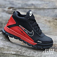 Ботинки женские зимние кожаные спортивные черные  (код 5401)