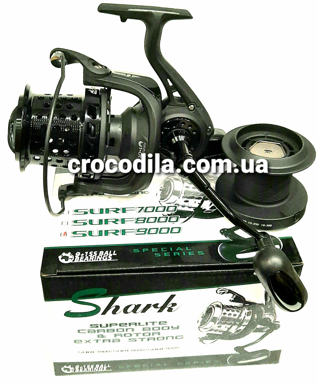 Серфовая  катушка Shark Surf 9000  с перфорированной шпулей