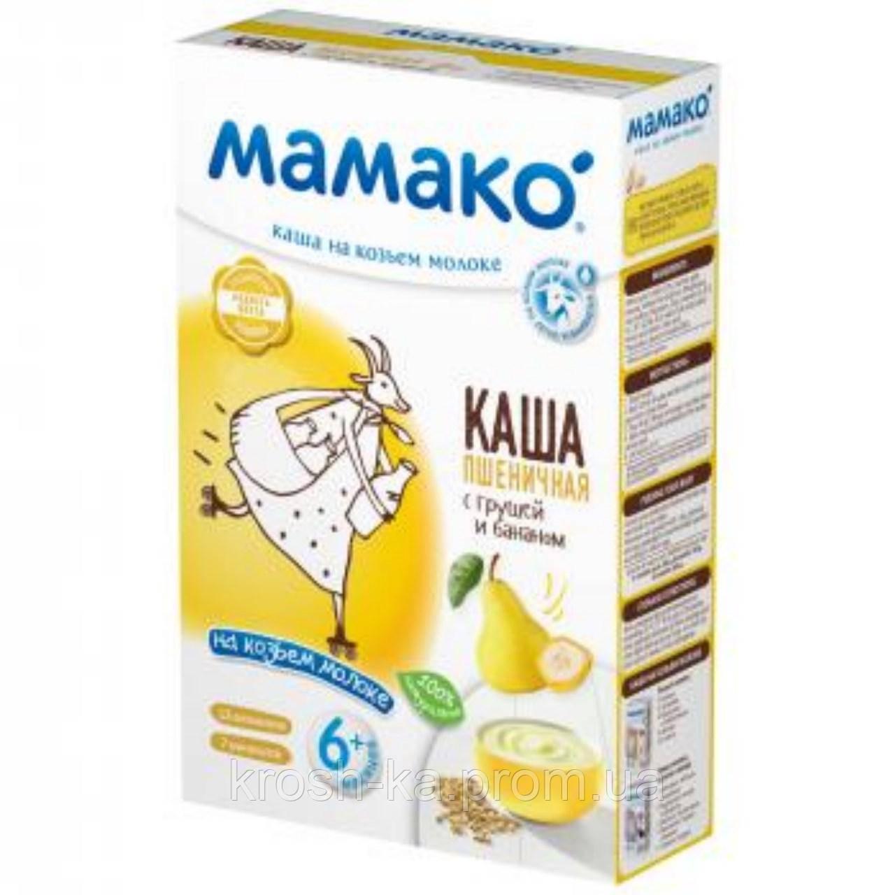 Каша молочная пшеничная с грушей и бананом на козьем молоке 6м+ 200г Мамако 1105408