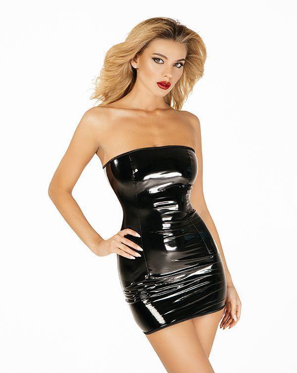 """Платье лакированное """"Соблазнительница Марго"""" XS/S, молния на всю длину сзади"""