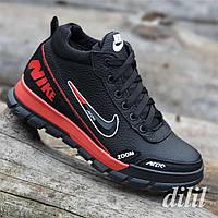 Ботинки женские зимние кожаные спортивные черные  (код 5402)