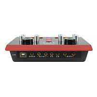 USB Аудиоинтерфейс Lesko 5000X внешняя звуковая карта-пульт с функциями обработки голоса, фото 4