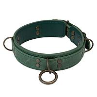 Премиум ошейник LOVECRAFT размер M зеленый, натуральная кожа, в подарочной упаковке, фото 1