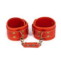 Премиум поножи LOVECRAFT красные, натуральная кожа, в подарочной упаковке, фото 1