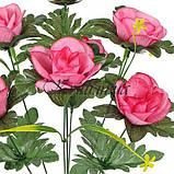 Искусственные цветы букет роз усатики, 56см, фото 2