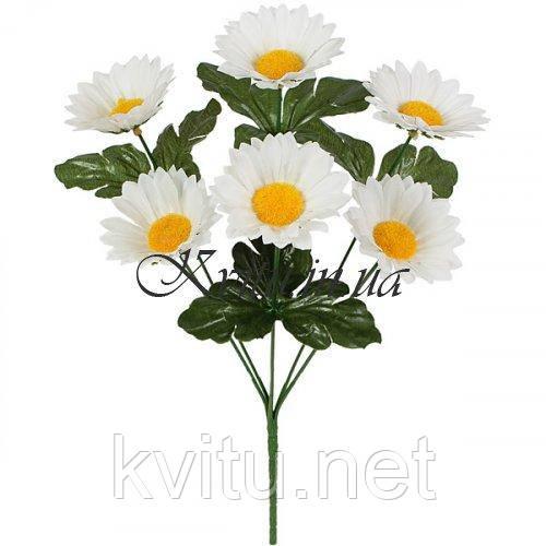Искусственные цветы букет ромашек белых, 34см