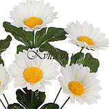 Искусственные цветы букет ромашек белых, 34см, фото 2