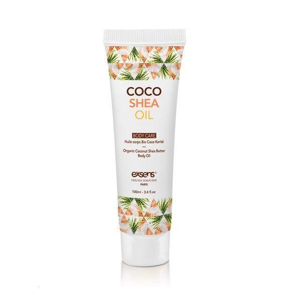 Органическое кокосовое масло Карите (Ши) для тела EXSENS Coco Shea Oil 100 мл, сертификат ECOCERT