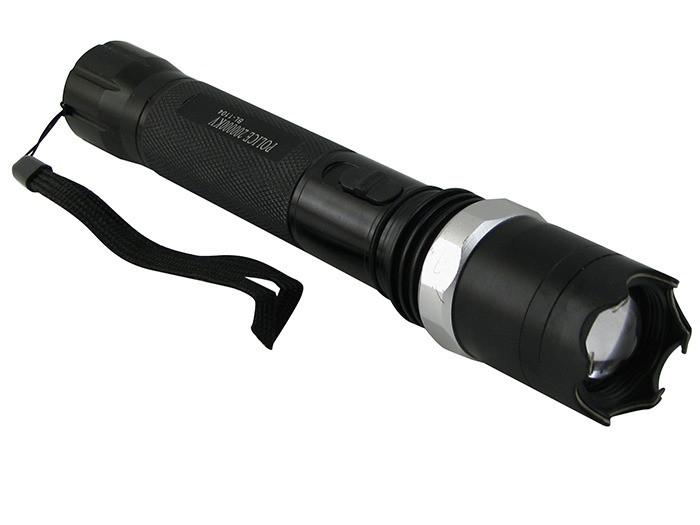 Мощный аккумуляторный разрядный фонарик-отпугиватель (ZZ-1104) светодиодный лед фонарь с зарядкой | ліхтарик