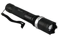 Мощный аккумуляторный разрядный фонарик-отпугиватель (ZZ-1104) светодиодный лед фонарь с зарядкой | ліхтарик, фото 1