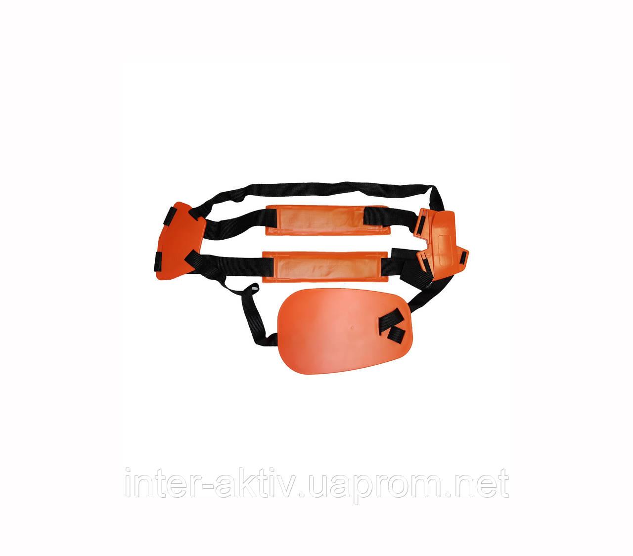 Ремень для бензокосы проф оранж на два плеча