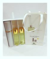 Подарочный парфюмерный набор с феромонами мужской Lacoste Essential (Лакост Эссеншиал) 3x15 мл
