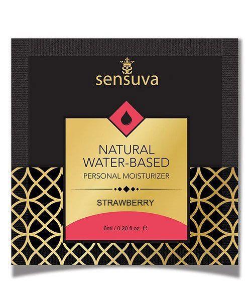 Пробник Sensuva - Natural Water-Based Strawberry (6 мл)