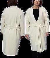 Пальто жіноче кашемірове біле