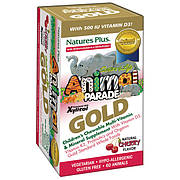 Мультивитамины для Детей, Вкус Вишни, Animal Parade Gold, Natures Plus, 60 жевательных таблеток