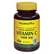 Витамин С 1000мг, с замедленным высвобождением, Natures Plus, 60 таблеток