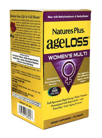 Мультивитамины для Женщин, AgeLoss, Natures Plus, 90 таблеток, фото 2