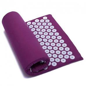 Акупунктурный массажный коврик с подушкой Зеленый, фото 2