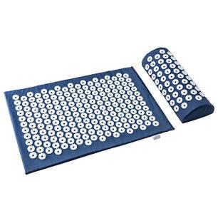 Акупунктурний масажний килимок з подушкою Синій, фото 2