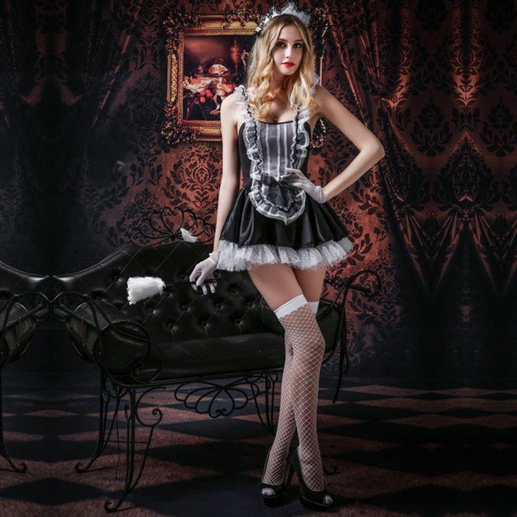 Эротический костюм горничной Трудолюбивая Дженна S/M