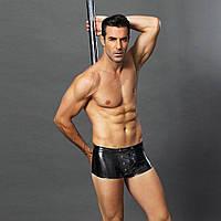 Эротические мужские лаковые трусы со шнуровкой S/M, фото 1