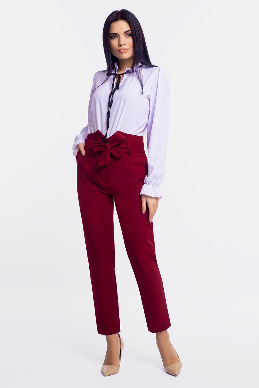 S, M, L | Неповторні жіночі брюки Elain, бордовий