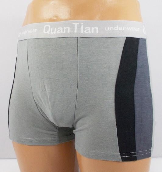 Трусы боксеры Quan Tian 651 XL светло-серые