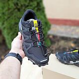 Мужские кроссовки в стиле Salomon SpeedСross 3 черные с белым, фото 2