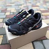 Мужские кроссовки в стиле Salomon SpeedСross 3 черные с белым, фото 3
