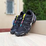Мужские кроссовки в стиле Salomon SpeedСross 3 черные с белым, фото 5
