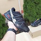 Мужские кроссовки в стиле Salomon SpeedСross 3 черные с белым, фото 7