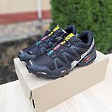 Мужские кроссовки в стиле Salomon SpeedСross 3 черные с белым, фото 8