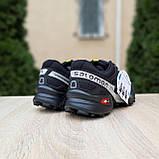 Мужские кроссовки в стиле Salomon SpeedСross 3 черные с белым, фото 9