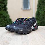 Мужские кроссовки в стиле Salomon SpeedСross 3 черные с белым, фото 10