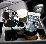 Органайзер холдер для стаканов автомобильный Car holder 5 in 1  подставка под стаканы, фото 4