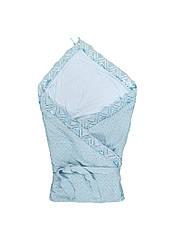 Вязаное покрывало-конверт  для новорожденных