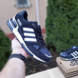 Мужские кроссовки в стиле  Adidas ZX 750 синие, фото 2