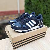 Мужские кроссовки в стиле  Adidas ZX 750 синие, фото 3