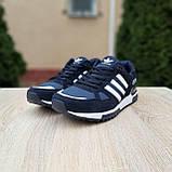 Мужские кроссовки в стиле  Adidas ZX 750 синие, фото 6