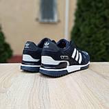 Мужские кроссовки в стиле  Adidas ZX 750 синие, фото 7