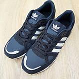 Мужские кроссовки в стиле  Adidas ZX 750 синие, фото 8