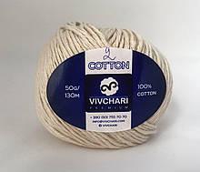 Пряжа хлопковая Vivchari Premium Cotton, Color No.2 бежевый