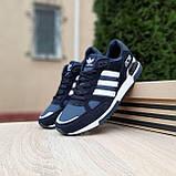 Мужские кроссовки в стиле  Adidas ZX 750 синие, фото 10