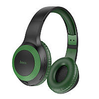 Беспроводные накладные MP3 наушники с поддержкой карты памяти MicroSD с микрофоном Bluetooth Hoco W29 Зеленые