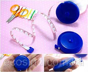 Мини-рулетка для шитья 1.5м / 7мм (лента из стекловолокна) красная (657-Л-0132)