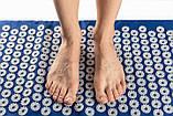 Акупунктурный массажный коврик с подушкой Синий, фото 3